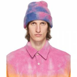 The Elder Statesman SSENSE Exclusive Pink and Blue Hot Dye Watchman Beanie WTCHCD-190424