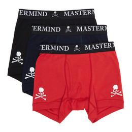 Mastermind World Three-Pack Multicolor Logo Boxer Briefs MW20C05-TR002
