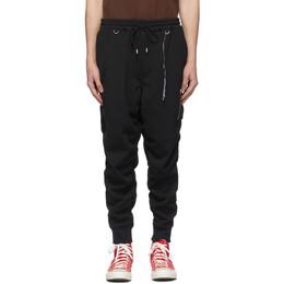 Mastermind World Black Ruched Lounge Pants MW20S05-PA012-600