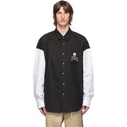 Mastermind World Black and White Colorblock Shirt MW20S05-SH002-006