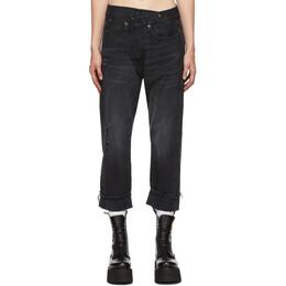 R13 Black Cross-Over Jeans R13W2048-394