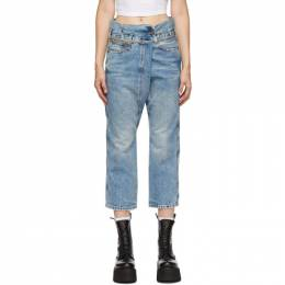 R13 Blue Staley Cross-Over Jeans R13W8006-998