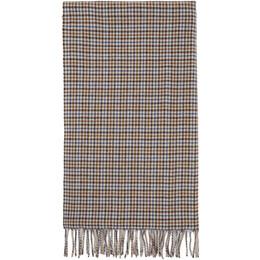 Rag&Bone White and Blue Wool Classic Plaid Scarf WJW20F1000KX00-PRALIN