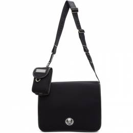 Mastermind World Black Skull Plaque Messenger Bag MW20S05-BA001