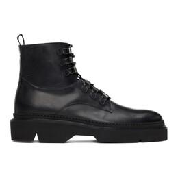 Etro Black Combat Boots 11338 3694