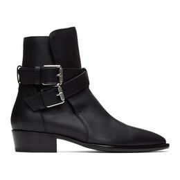 Amiri Black Two-Buckle Boots W0F20348CA