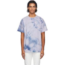 John Elliott Purple Tie-Dye University T-Shirt A190M45612A