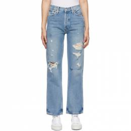 Re/Done Blue 90s High Rise Loose Jeans 160-3WHRL