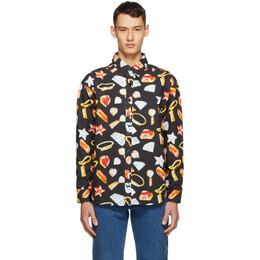 GCDS Black Jewels Shirt FW21M020038