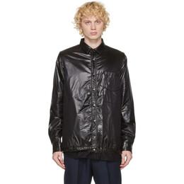 Sacai Black Nylon and Melton Shirt 20-02416M