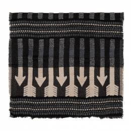 Mackage Grey and Pink Wool Aro Scarf Aro-R
