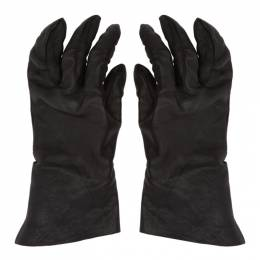 Boris Bidjan Saberi Black Vegetable-Tanned Gloves FMM20033