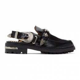 Toga Pulla Black Leather Mule Loafers FTGPW107009021