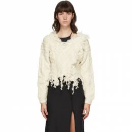Ottolinger Off-White Wool Deconstructed Sweater AW20KN03DC