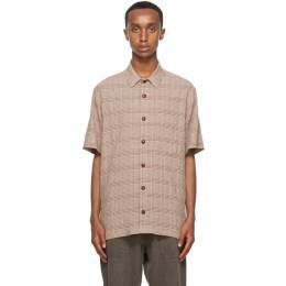 Nanushka Brown Adam Short Sleeve Shirt NM20PFSH00973