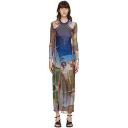 Ottolinger Multicolor Mesh Julien Nguyen Print Dress AW20DR01J