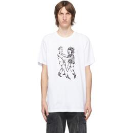 Wacko Maria White Born x Raised Edition Fight T-Shirt BXR-WM-TEE03