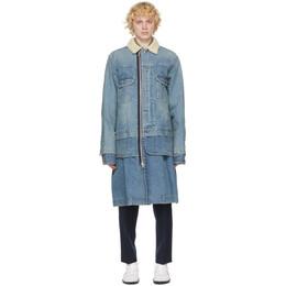 Sacai Blue Denim Coat 20-02360M