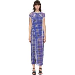 Ottolinger SSENSE Exclusive Purple Mesh Maxi Dress AW20SEDR010L