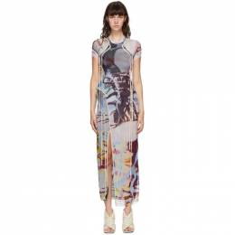 Ottolinger SSENSE Exclusive Multicolor Mesh Maxi Dress AW20SEDR010E