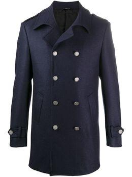 Tonello двубортное пальто узкого кроя 01C06006956U