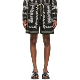 Nanushka Black Bandana Print Doxxi Shorts M_SH_00016