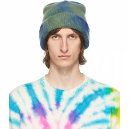 The Elder Statesman SSENSE Exclusive Blue and Green Hot Dye Watchman Beanie WTCHCD-190424