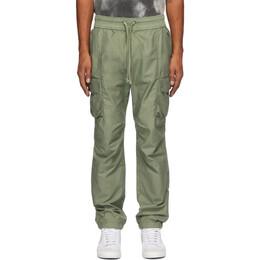 John Elliott Green Sateen Cargo Pants F002N0851A