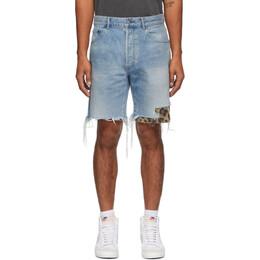 John Elliott Blue Denim Bozeman Shorts G027E75610L