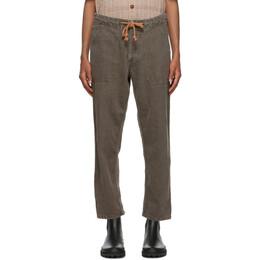 Nanushka Brown Linen Nova Trousers NM20PFPA01576