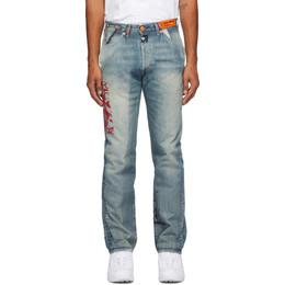 Heron Preston Blue Levis Edition 501 Logo Jeans HMYA007S209250207328