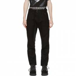 Sacai Black Wool Belted Trousers 20-02382M
