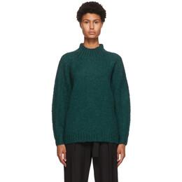 3.1 Phillip Lim Green Alpaca Sweater F201-7349CAW