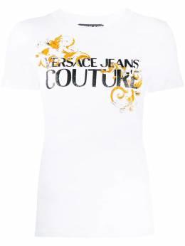 Versace Jeans Couture футболка с принтом Logo Baroque B2HZA7TB30319