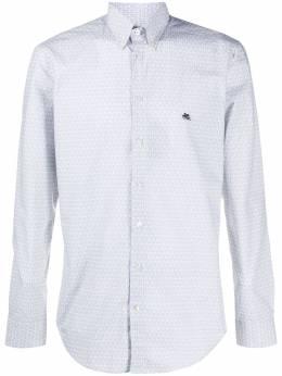 Etro embroidered logo button-down shirt 1K9643344