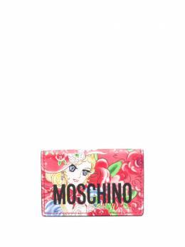 Moschino кошелек с принтом и логотипом A81468028