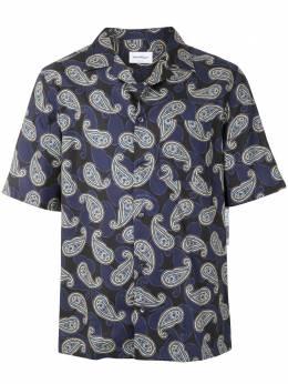 Salvatore Ferragamo рубашка с принтом пейсли 143429