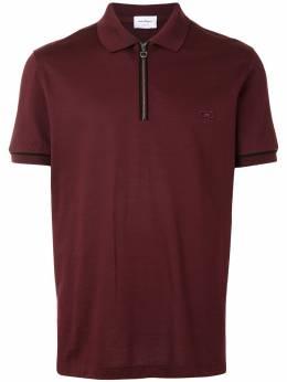 Salvatore Ferragamo рубашка поло с вышитым логотипом 121828