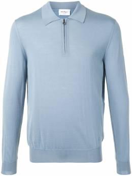 Salvatore Ferragamo трикотажная рубашка поло с длинными рукавами 120395