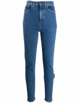 Off-White джинсы скинни с завышенной талией OWYA003E20DEN0034500