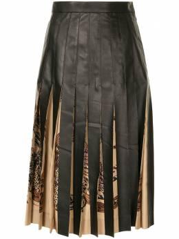 Salvatore Ferragamo плиссированная юбка с принтом 13G860