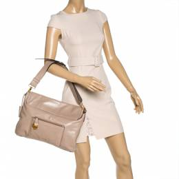 Miu Miu Beige Vitello Soft Leather Flap Shoulder Bag 327811