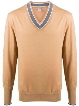 Eleventy v-neck fine knit jumper B76MAGB04MAG0B001