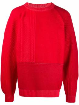 Barrie panelled ribbed jumper C148381