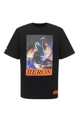 Хлопковая футболка Heron Preston HMAA020F20JER0021020