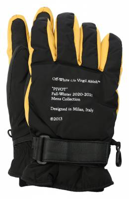 Комбинированные перчатки Off-White 0MNE021E20FAB0011018