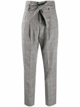 Liu Jo Prince of Wales check tied trousers WF0044T4594