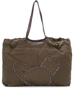 Vivienne Westwood сумка-тоут с вышитым логотипом 4205006811415ET