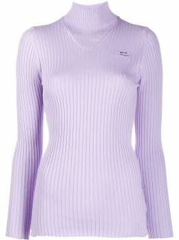 Courreges свитер в рубчик 320MPU001CO0005