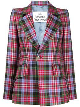 Vivienne Westwood Tartan-check wool blazer 1401004411587SI